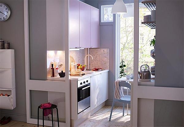 раздвижные двери на кухне на балконе