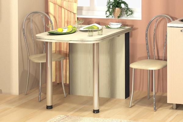 Обеденный стол-трансформер в интерьере кухни