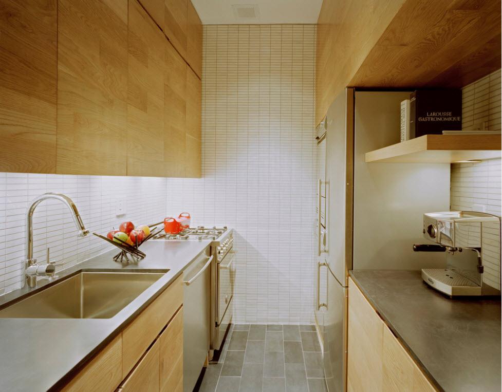 кухня вдоль стен