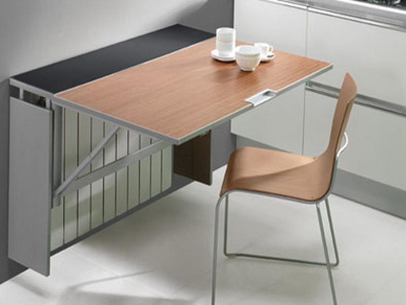 стол пристенный откидной