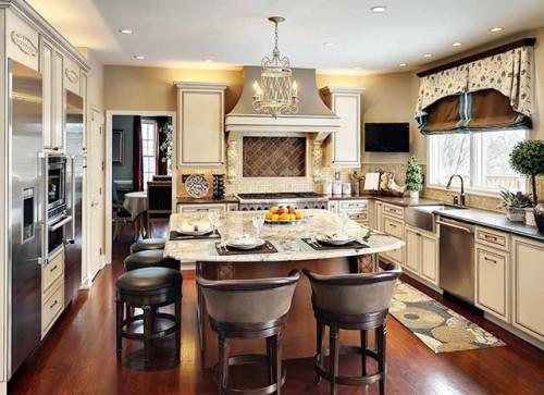 кухня столовая в деревенском стиле