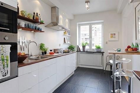 скандинавский стиль в интерьере фото кухни