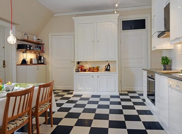 плитка на кухне в скандинавском стиле