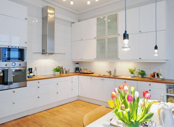 освещение на кухне в скандинавском стиле