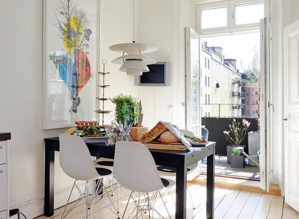 картина на кухне в скандинавском стиле