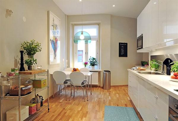 ламинат на кухне в скандинавском стиле