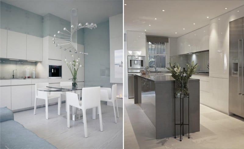 освещение на кухне минимализм