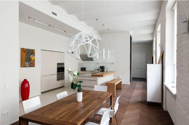 стильные светильники на кухне
