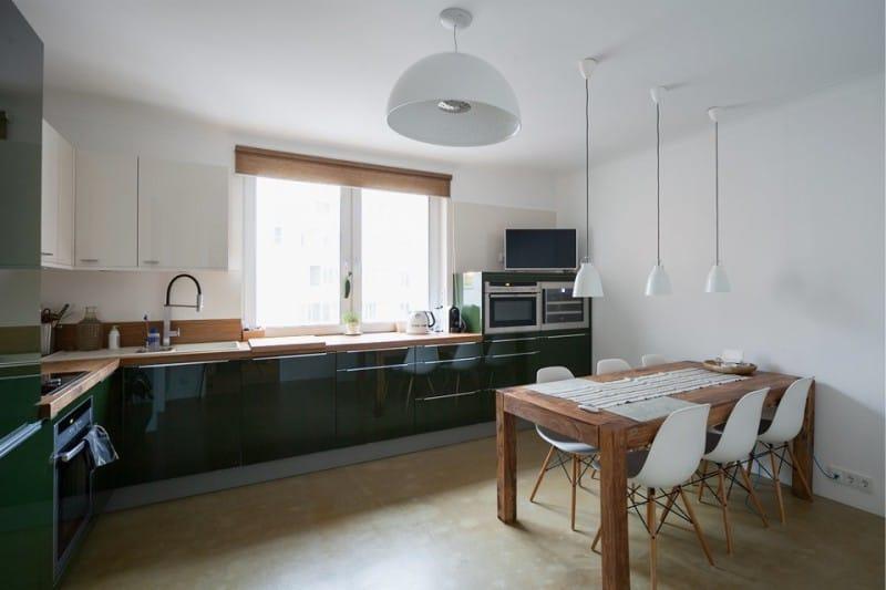 окно на кухне в стиле минимализм