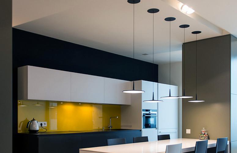 подсветка на кухне в стиле минимализм