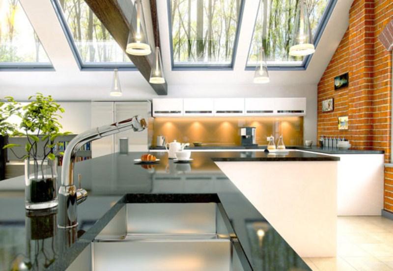 в стиле минимализм уютная кухня