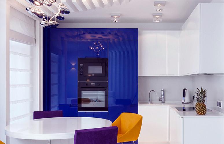 угловая кухня в минималистском стиле.