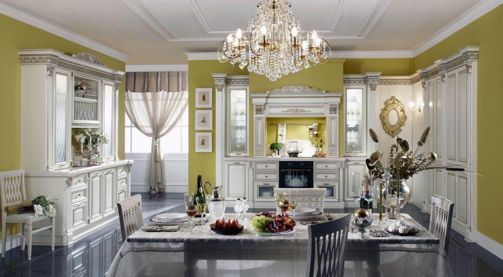 люстра на кухне в центре