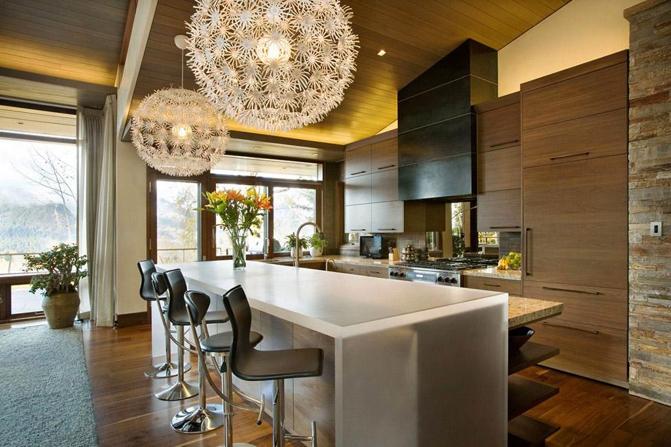 шарообразная люстра для кухни