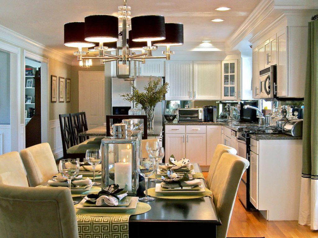 люстра модерн на кухне