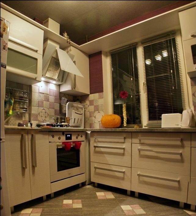 рабочая зона в интерьере кухни