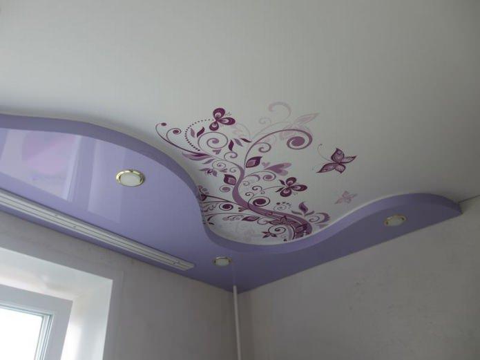 потолок с фотопечатью