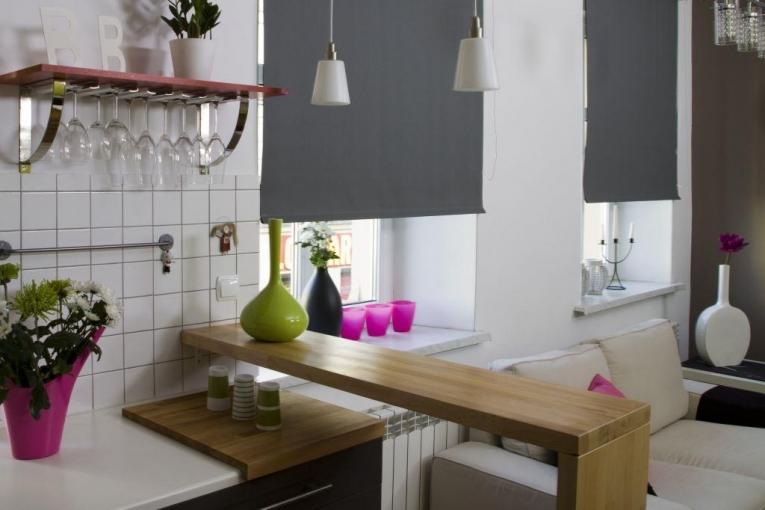 современные шторы для кухни 2017