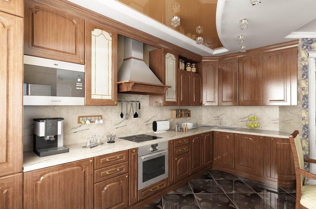потолок на кухне классика