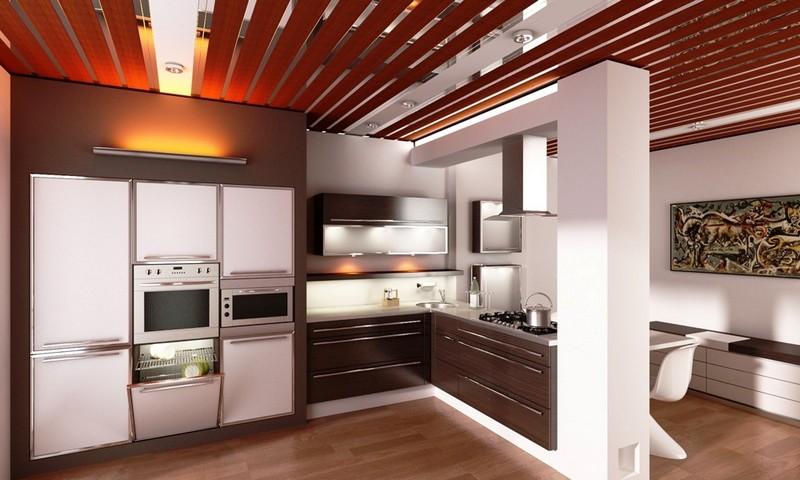 Потолки из пвх на кухне