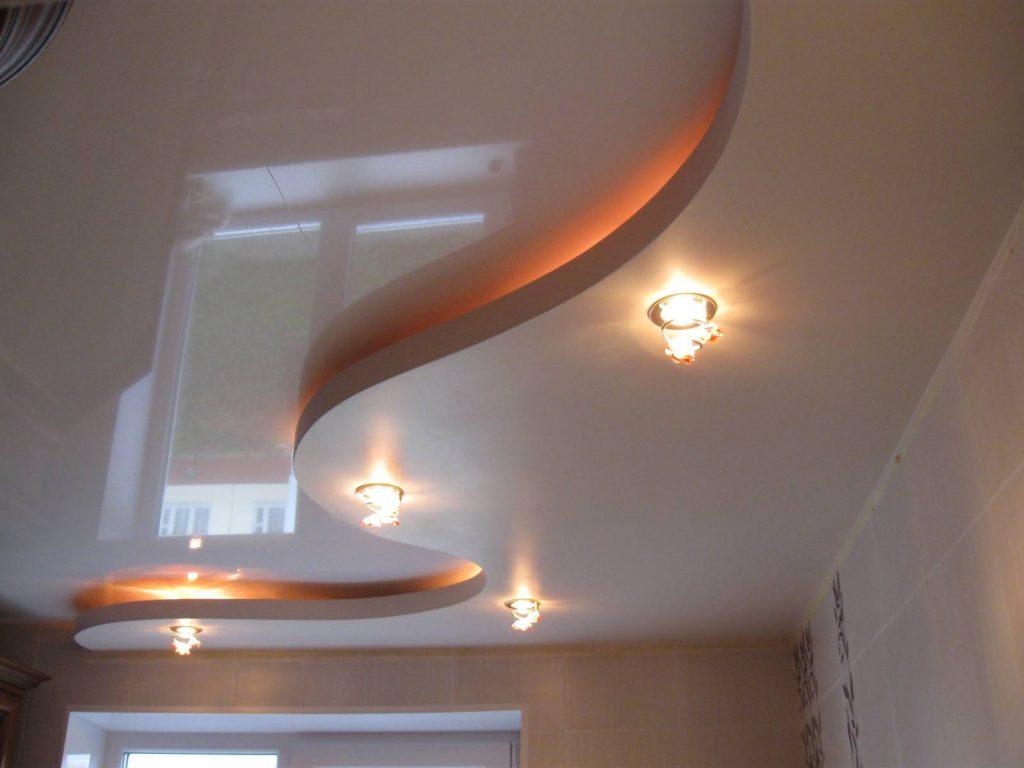 потолок на кухне из гипсокартона