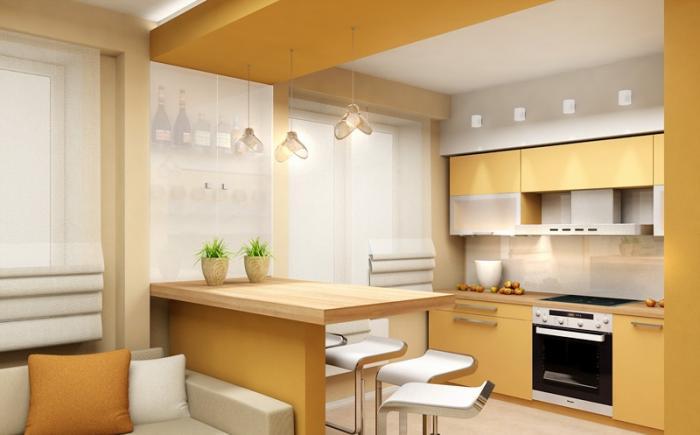 гипсокартонный <em>потолка</em> потолок на кухне