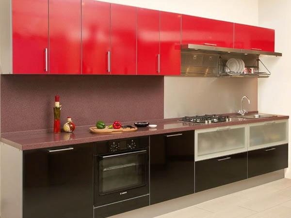красная кухня 3 метра
