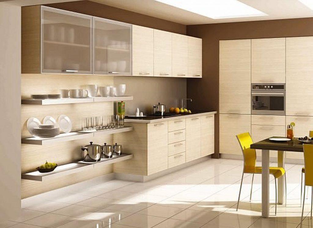 Дизайн белой кухни из пластика