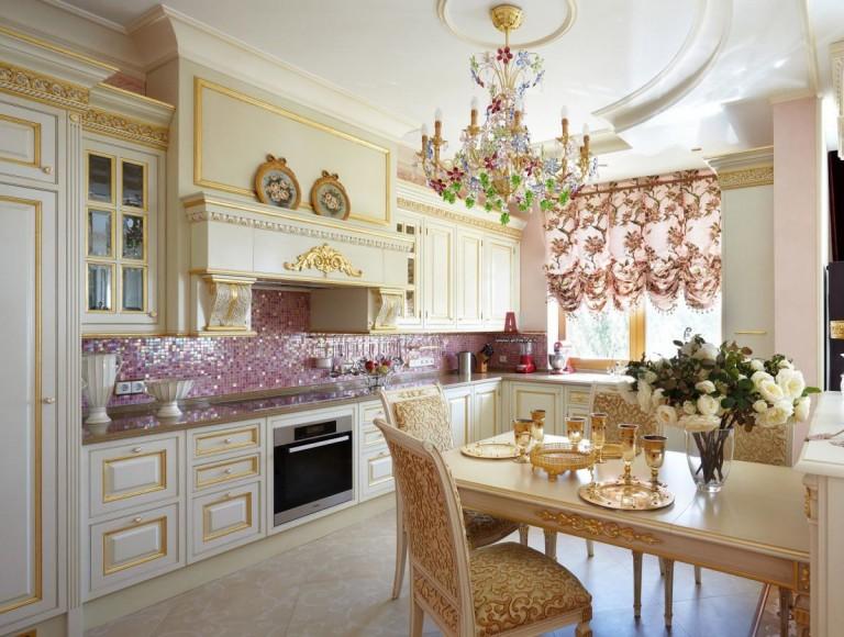 французские шторы для кухни 2017
