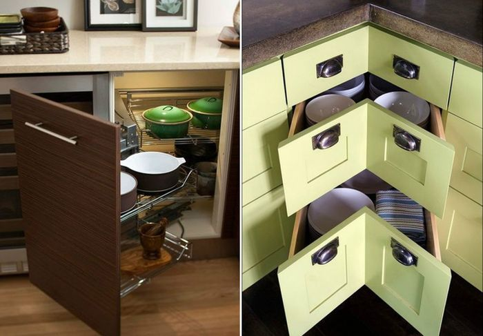 Функциональная мебель на маленькой кухне