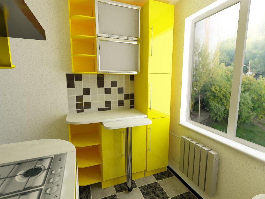стены на кухне 2 на 3
