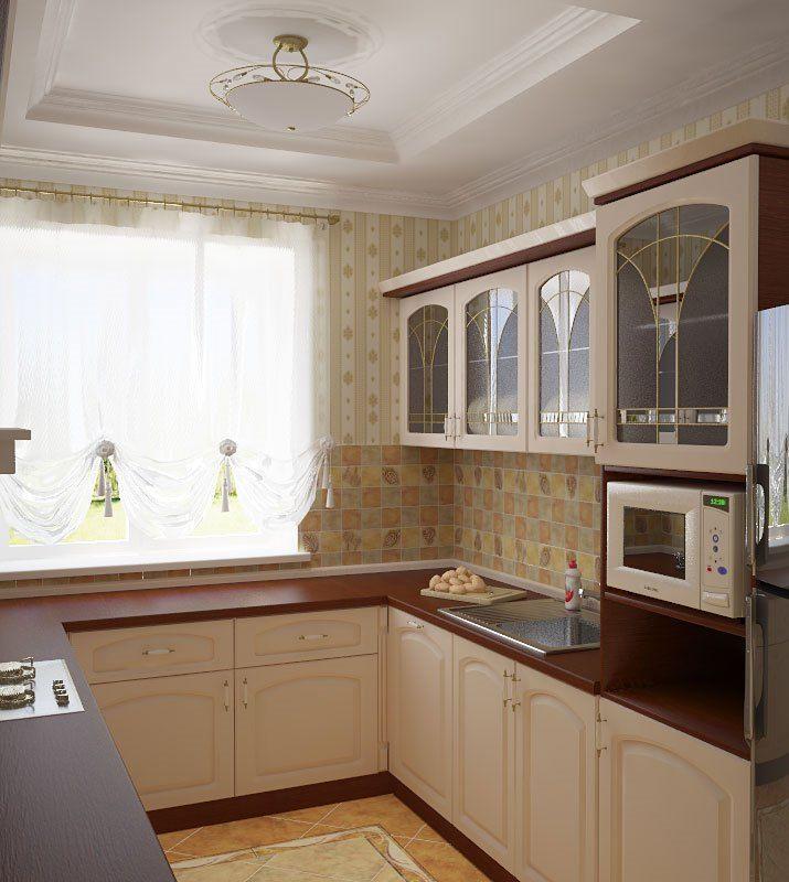 П-образный гарнитур на кухне 2 на 3 метра