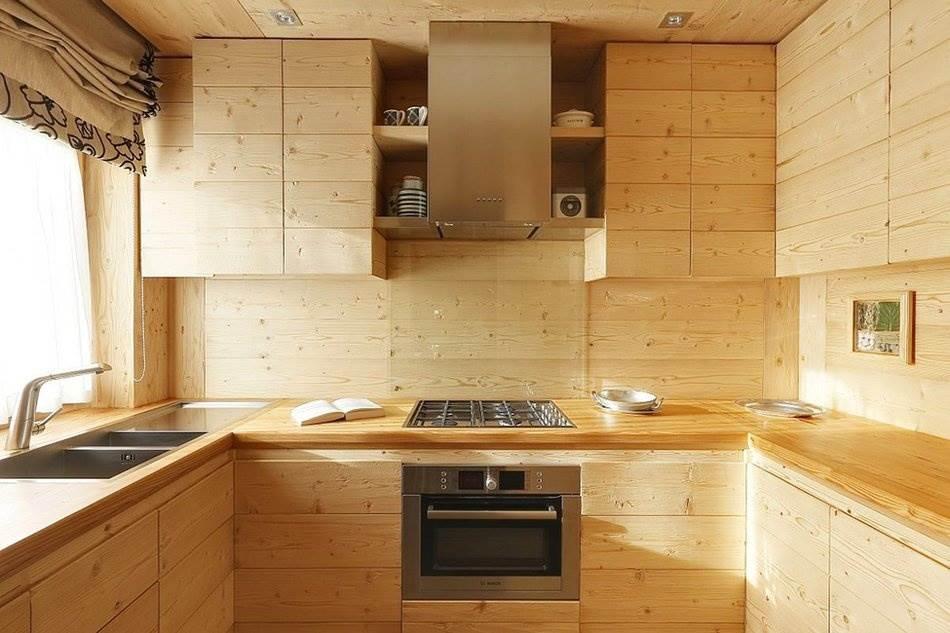 П-образная деревянная кухня своими руками