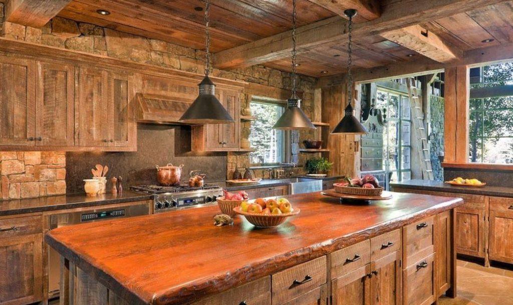 деревянная кухня своими руками для дома
