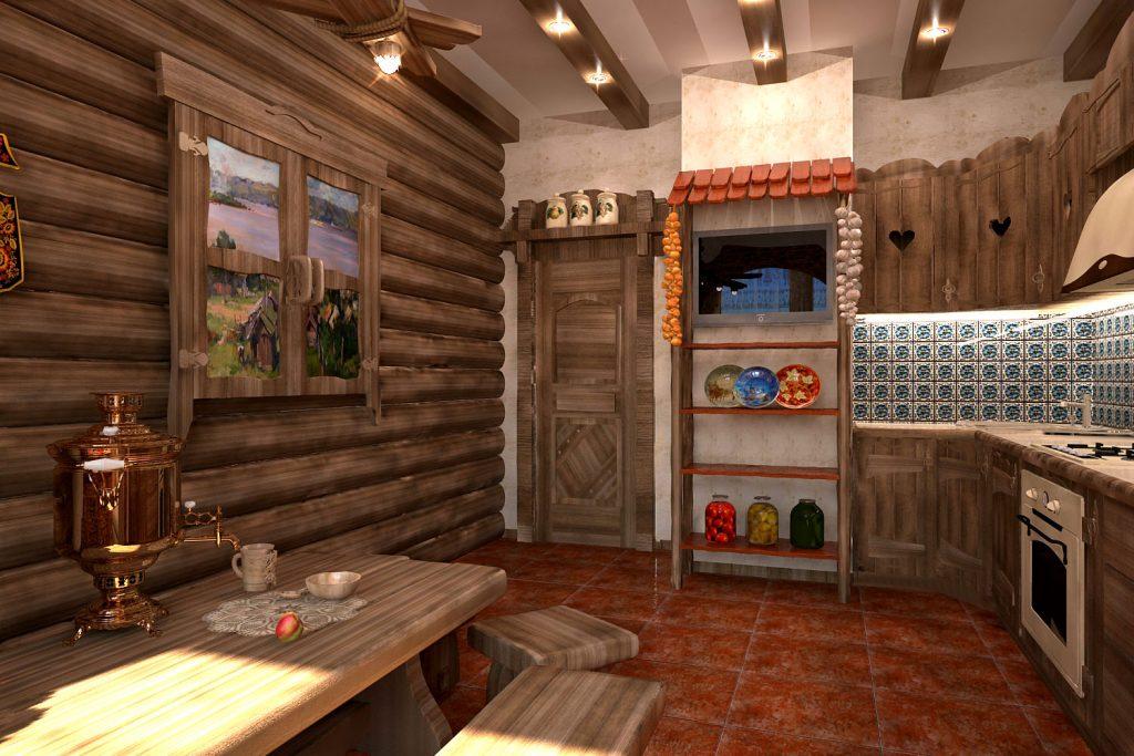 Кухни из дерева под старину своими руками фото