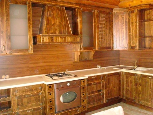 угловая деревянная кухня своими руками