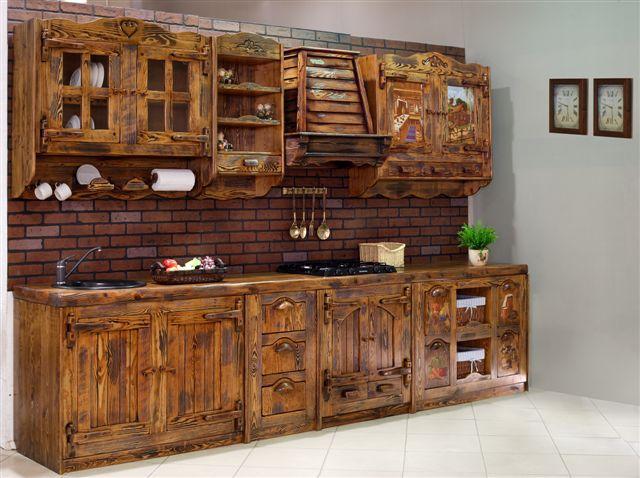 деревянная линейная кухня своими руками