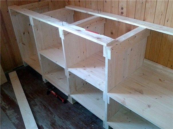 сборка ящиков деревянная кухня своими руками
