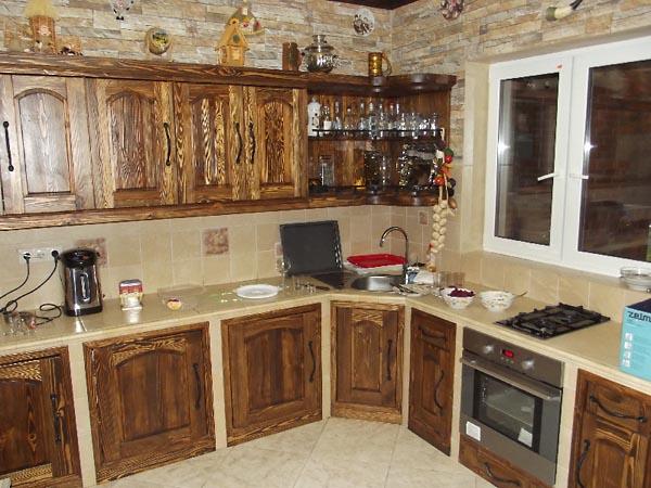 деревянная угловая кухня своими руками