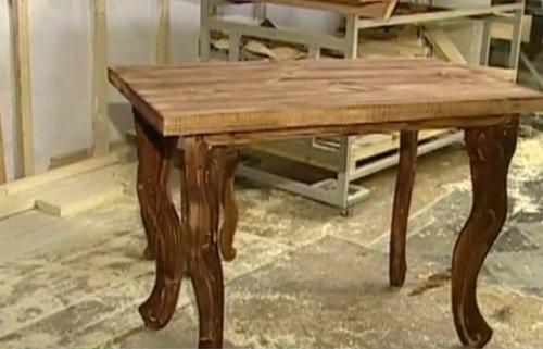 деревянный стол своими руками