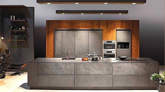 серые обои для кухни 2017