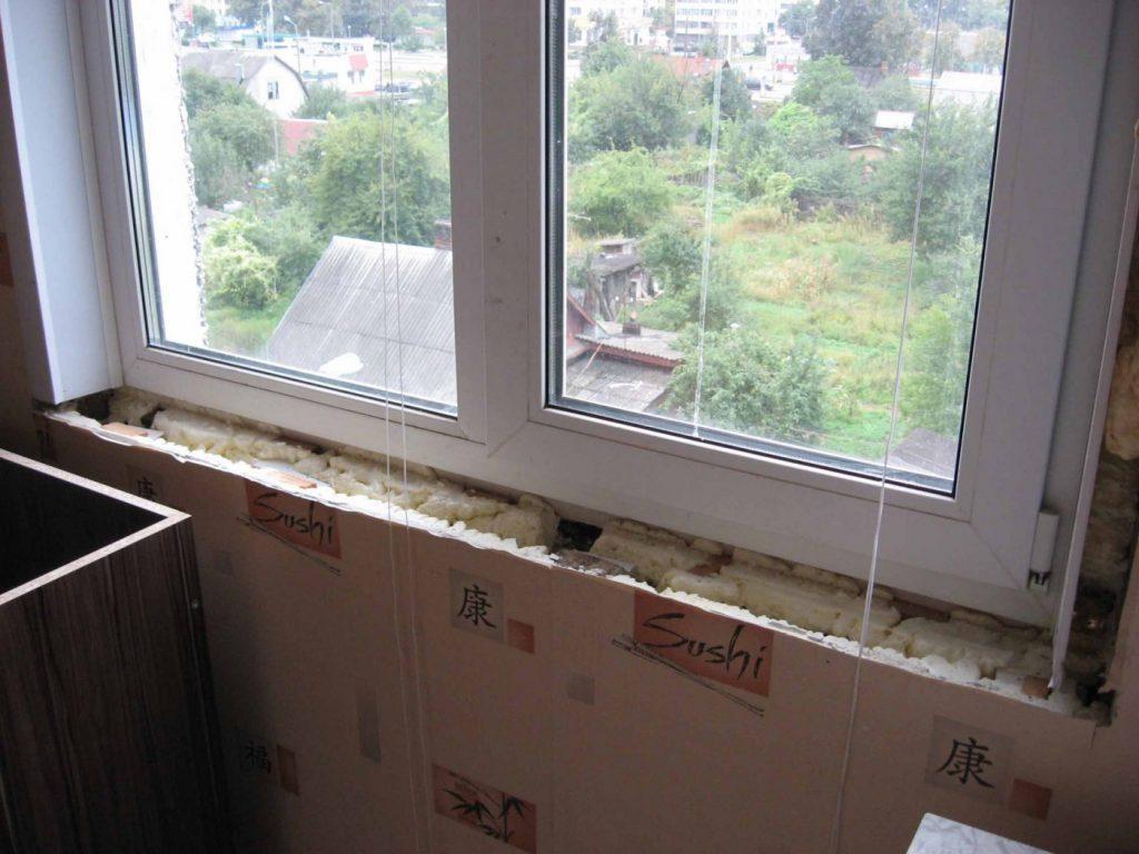 ремонт окна на кухне