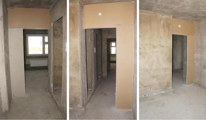 установка дверей на кухню