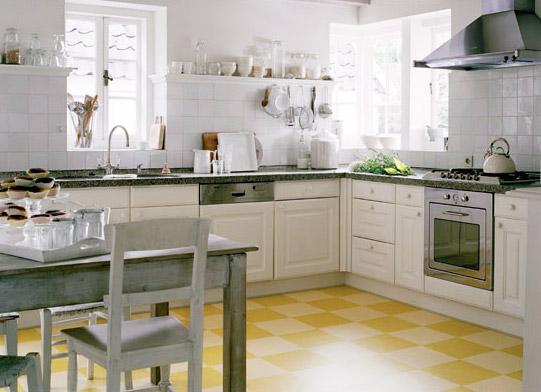 угловая кухня после ремонта