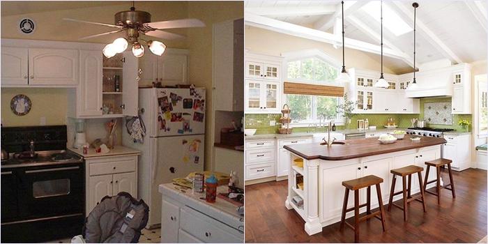 до и после ремонт на кухне
