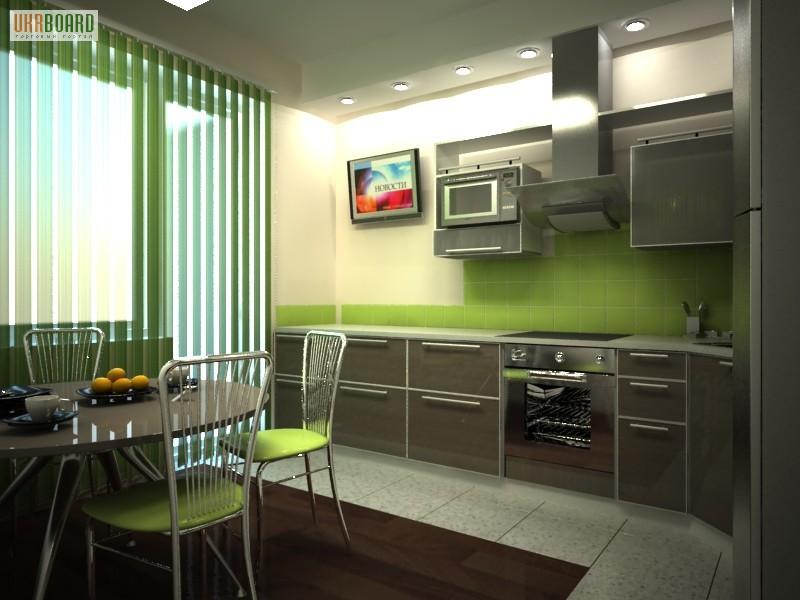 кухня в хрущёвке с телевизором