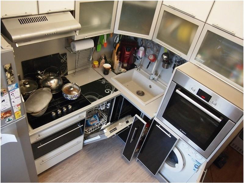 функциональная мебель на кухне в хрущёвке