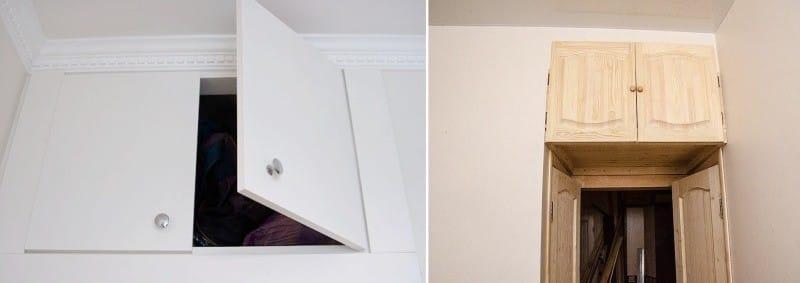 ниши для хранения над дверями на кухне в хрущёвке
