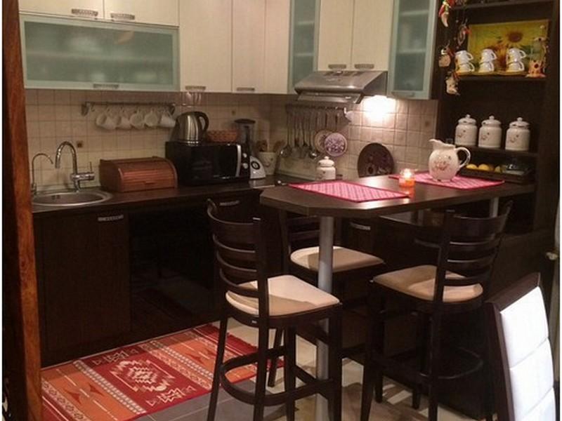 встроенный столик на кухне в хрущёвке