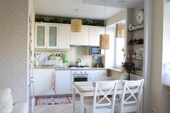 кухня в хрущёвке с гостиной
